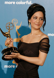 Archie Panjabi won an Emmy Award for Outstanding Supporting Actress In A Drama Series for her role on 'The Good Wife'  after the 62nd Primetime Emmy Awards on Sunday, August  29, 2010, at the Nokia Theatre in Los Angeles.(David Crane/ staff photographer)