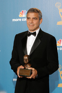 George Clooney after the 62nd Primetime Emmy Awards on Sunday, August  29, 2010, at the Nokia Theatre in Los Angeles.(David Crane/ staff photographer)