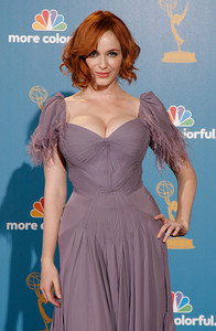 Christina Hendricks of 'Mad Men' after the 62nd Primetime Emmy Awards on Sunday, August  29, 2010, at the Nokia Theatre in Los Angeles.(David Crane/ staff photographer)