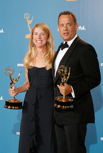 Tom Hanks after the 62nd Primetime Emmy Awards on Sunday, August  29, 2010, at the Nokia Theatre in Los Angeles.(David Crane/ staff photographer)
