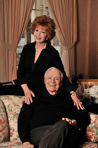 Ernest Borgnine and his wife Tova. Borgnine will be honored with a Screen Actors Guild Lifetime Acheivement Award on January 30. Beverly Hills, CA 1-21-2011. (John McCoy/staff photographer)