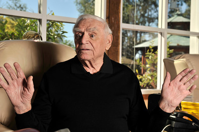 Ernest Borgnine will be honored with a Screen Actors Guild Lifetime Acheivement Award on January 30. Beverly Hills, CA 1-21-2011. (John McCoy/staff photographer)