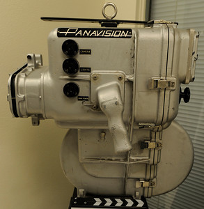 """This Inverted 35 MM Underwater Camera had the film magazine on the bottom. It was originally developed and built in 1964 for the James Bond film """"Thunderball,"""" but was used again in the swimming pool scene in """"The Graduate,"""" as well as many underwater scenes in """"Jaws.""""  Woodland Hills, CA 1/20/2012(John McCoy/Staff Photographer)"""
