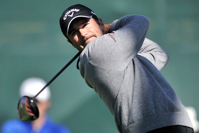 Trevor Immelman on the 3rd tee during the first round of the Northern Trust Open at Riviera Country Club in Pacific Palisades , CA. 2-17-2011. (John McCoy/staff photographer)