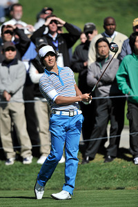 Ryo Ishikawa on the 10th tee during the first round of the Northern Trust Open at Riviera Country Club in Pacific Palisades , CA. 2-17-2011. (John McCoy/staff photographer)