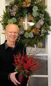 Mark Held has designed a variety of floral arrangements for the holidays at Mark's Garden, located on Ventura Blvd. in Sherman Oaks, CA 12/08/2011(John McCoy/Staff Photographer)