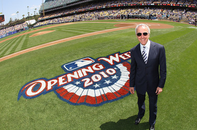 Los Angeles Dodgers owner Frank McCourt before opening day 2010 before a Major League baseball game between the San Francisco Giants and the Los Angeles Dodgers in Los Angeles. (SGVN/Staff Photo by Keith Birmingham/SPORTS)