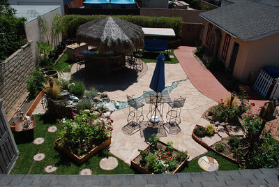 """Here's the """"after"""" photo showing what Phil and Cil Rivera did with the space formerly occupied by an unused pool in their Granada Hills backyard."""