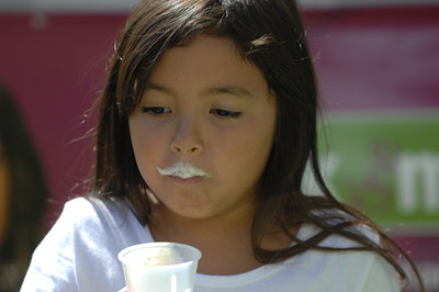 """The National """"got milk?"""" Milk Mustache Mobile Tour made a stop at the Americana at Brand. Kids drank milk,  milkshakes and smoothies to create milk mustaches, and then had their pictures taken. A variety of booths were set up to demonstrate the importance of milk and featured ice-cold lowfat and fat free milk from local dairies. Glendale, CA 07/28/2010 (John McCoy/Staff Photographer)"""