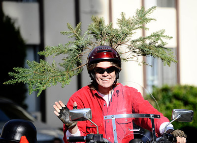 Bikers dress up for the annual Granada Hills christmas parade along Chatsworth blvd. Dec 4,2011. Photo by Gene Blevins/LA Daily News