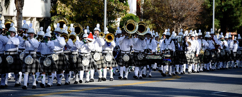 The Granada Hills marching band performs  during the annual Granada Hills christmas parade along Chatsworth blvd. Dec 4,2011. Photo by Gene Blevins/LA Daily News