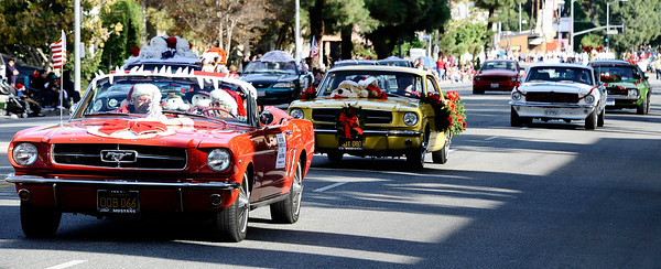 California mustang owners cruise during the annual Granada Hills christmas parade along Chatsworth blvd. Dec 4,2011. Photo by Gene Blevins/LA Daily News