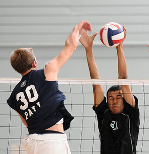 Granada Hills #11 Victor Carson makes a block at the net, as they play Palisades high during CIF Championship game. May 21,2011. photo by Gene Blevins/LA Daily News