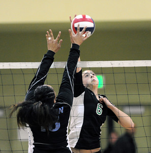 Granada Hills High School vs Carson High School CIF Los Angeles City Section Division I Girls Volleyball Championship at the Roybal Learning Center Saturday, November 20, 2010 in Los Angeles, CA. (Hans Gutknecht/Staff Photographer)