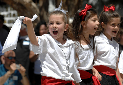 The 36th Annual Valley Greek Festival is being held at St. Nicholas Church 9501 Balboa Blvd. in Northridge. Officials at the festival expect an attendance of over 50,000 durning the 3-day event. The admission-free fundraiser is the largest festival of its kind in the area and features Greek live music, dancing, gourmet food, homemade pastries, cooking demonstrations, children's activities, a Greek market, and a variety of shopping boutiques. Northridge, CA 5/29/2010. photo by John McCoy/staff photographer