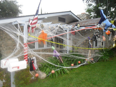 The Bonneau family is ready for Halloween on the 2100 block of Crescent Avenue in Montrose.
