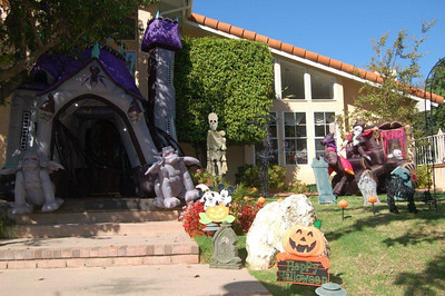 The Krivis family gets into the Halloween spirit in Chatsworth.