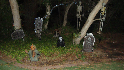 The undead are out in force at the Lee family home in the 17100 block of Sunderland Drive in Granada Hills.