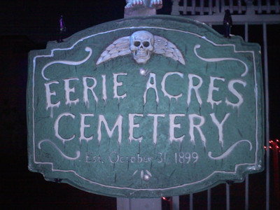 Things are beginning to appear once again at Canoga Park's Eerie Acres Cemetery, which has been Haunting Keswick Street for the past 17 years.