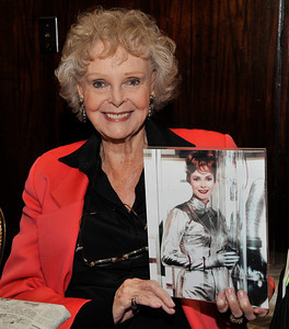 1965 TV series Lost in Space actress June Lockhart  holds a photo of her self as she played Mrs. Robinson during the Hollywood Xpo in the Hilton hotel at Universal City. The colorful three day event features appearances by Over 100 Stars, Reunions, Screenings & More. For more info on the event go to www. hollywoodxpo.com. Oct 15,2010. Photo by Gene Blevins/LA Daily News