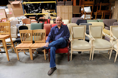 Hotel Surplus Outlet President Donald Fenning at his Van Nuys furniture warehouse. Hotel Surplus Outlet specializes in surplus hotel furniture and overstocked new furniture from manufacturers. (Hans Gutknecht/Staff Photographer)