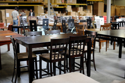Hotel Surplus Outlet Van Nuys furniture warehouse specializes in surplus hotel furniture and overstocked new furniture from manufacturers. (Hans Gutknecht/Staff Photographer)