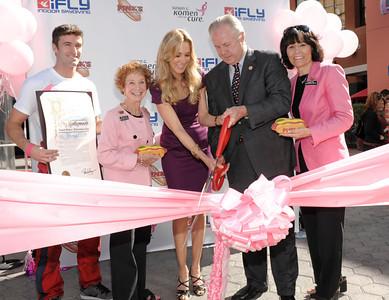 Jason Wilson, Beverly Pink, Alana Stewart, Tom LaBonge, Gloria Pink--cutting the ribbon  Photo Credit:--  Dan Steinberg Photography www.dansteinberg.com
