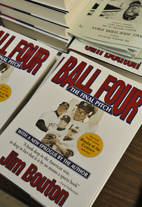"""On the 40th anniversary of the Jim Bouton ground-breaking book, """"Ball Four,"""" written about his 1969 season with the Seattle Pilots and Houston 45s. Bouton was part of a pannel discussion about his book, the game, and how things have changed at the Burbank Central Library.  Burbank ,CA 9/18/2010 (John McCoy/staff photographer)"""