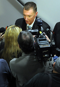 John Deasy speaks to the media at the LAUSD headquarters boardroom Tuesday, January 11, 2011. Deasy was named Los Angeles Unified School District Superintendent Ramon Cortines replacement when Cortines retires this spring. (Hans Gutknecht/Staff Photographer)