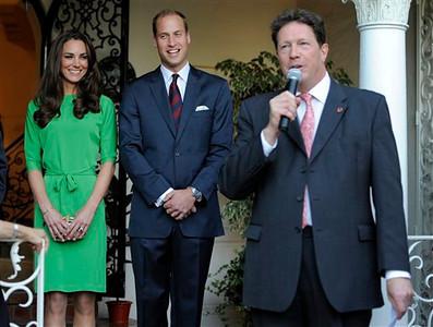Royal Tour California Reception
