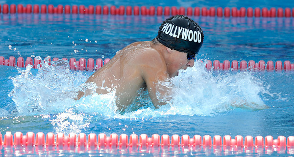 Hollywoods Alexander Moshensky swims the boys 200 yard IM during the LA City Section CIF, All City Swimming Championships were held at the AAF/John C. Argue Swim Stadium in Los Angeles, CA 5-17-2011. (John McCoy/staff photographer)