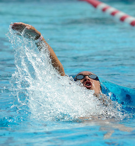 Clevelands Valerie Orellana swims the 200 yard IM. LA City Section CIF, All City Swimming Championships were held at the AAF/John C. Argue Swim Stadium in Los Angeles, CA 5-17-2011. (John McCoy/staff photographer)