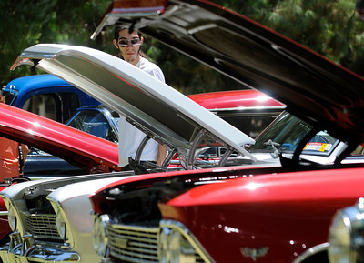 The Los Angeles Police Department Valley Traffic Division is held its 8th annual Car Show & Traffic Safety Fair at Warner Center Park Saturday. Woodland Hills, CA 6-4-2011. (John McCoy/Staff Photographer)