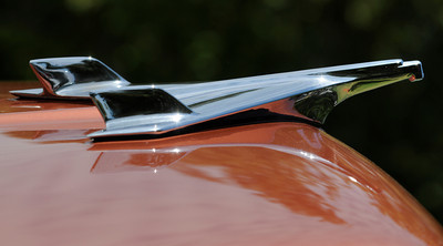 Hood ornament on a 56 Chevy Bel Air. The Los Angeles Police Department Valley Traffic Division is held its 8th annual Car Show & Traffic Safety Fair at Warner Center Park Saturday. Woodland Hills, CA 6-4-2011. (John McCoy/Staff Photographer)