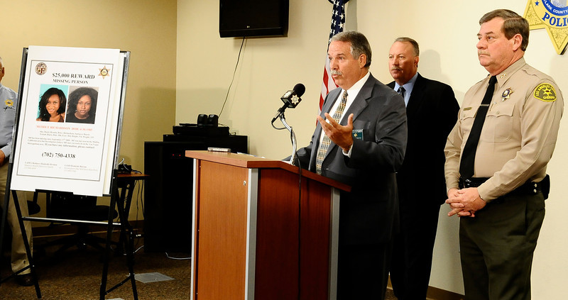 . In this July 29, 2010 file photo,  (R-L) Los Angeles County Sheriff Capt. Bill McSweeney,  homicide detective Dave Smith and Kevin McClure speak at a press conference along with Las Vegas PD  to discuss the ongoing investigation into the disappearance of a California woman. Matrice Richardson, was last seen in Malibu California on September 17 , 2009. Almost a year after opening a criminal investigation into the way the Los Angeles County Sheriff�s Department handled the 2009 disappearance of Richardson, the California Attorney General�s Office concluded there was no evidence to prosecute the deputies for their actions. ( Photo by Gene Blevins/LA Daily News)