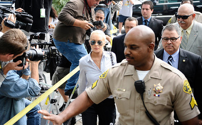 Lindsay Lohan arrives at a Los Angeles courtroom on Thursday so a judge can determine whether she violated the terms of her probation on a 2007 drunken driving case.  The district attorney's spokeswoman says her office hasn't yet received information on the potential violation by Lohan.  Sandi Gibbons says the issue relates to Lohan's DUI case and not a misdemeanor theft case the actress resolved with a no-contest plea in May.  The hearing comes as Lohan nears the end of what was expected to be a 35-day stint on house arrest for violating her probation by taking a necklace from a store without permission. June 23,2011 Photo by Gene Blevins/LA Daily News