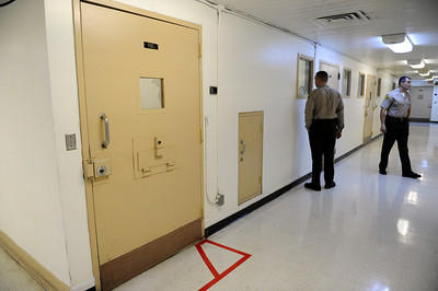 The cell that housed O.J. Simpson Los Angeles County Sheriff's Department Men's Central Jail Wednesday, December 7, 2011. (Hans Gutknecht/Staff Photographer)