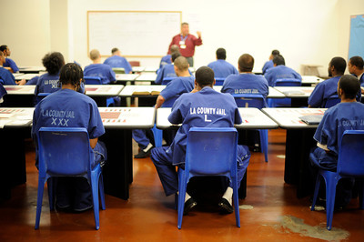 Inmates take a class Los Angeles County Sheriff's Department Men's Central Jail Wednesday, December 7, 2011. (Hans Gutknecht/Staff Photographer)