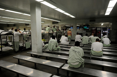 A dormitory at the Los Angeles County Sheriff's Department Men's Central Jail Wednesday, December 7, 2011. (Hans Gutknecht/Staff Photographer)
