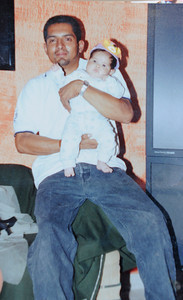 Family photo of Heriberto Parra, 36 of San Fernando, who has been working to immigrate to the United States for many years with the help of a Notary Public, who he believed had the legal ability to help him gain citizenship. Recently he was detained, and will face deportation because he has not taken the necessary legal steps.  The mother of his children, and while not married his defacto spouse Maria Gonzales, held a press conference to ask that her family be reunited, and Parra allowed to continue his quest for citizenship. Van Nuys, CA 1/6/2012(John McCoy/Staff Photographer)