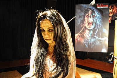 Minerva Mendez as La Llorona Villa De Almas Pedidas (The Weeping Woman Village of the Lost Souls)during a media preview for  Universal Studios' ÒHalloween Horror NightsÓ at  the Globe Theatre venue at Universal Studios Hollywood Wednesday, September 7, 2011. (Hans Gutknecht/Staff Photographer)