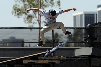 Ryan Sheckler during the Men's Street Finals at the X Games 17 outside the Staples Center in Los Angeles, CA Saturday, July 30, 2011. (Hans Gutknecht/Staff Photographer)