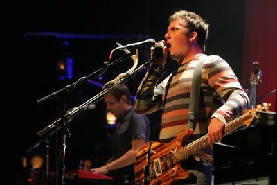 Isaac Brock, of Modest Mouse performs onstage at the Gibson Amphitheater on May 13, 2007 in Universal City, California. The Concert was scheduled to take place at the Greek Theater in Hollywood but was moved due to the Griffith Park brush fire. (Matthew Simmons/Special to the DN)