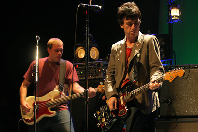 Former Smiths Guitarist Johnny Mar (right), performs as the newest member of Modest Mouse at the Gibson Amphitheater on May 13, 2007 in Universal City, California. The Concert was scheduled to take place at the Greek Theater in Hollywood but was moved due to the Griffith Park brush fire. (Matthew Simmons/Special to the DN)