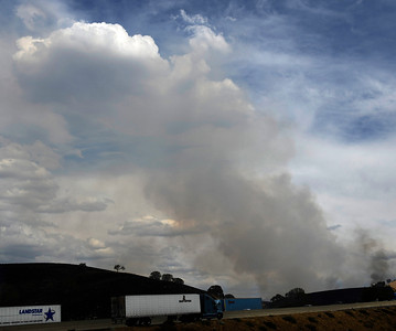 Several brush fires were started by lightning strikes along highway 58 from monsoon storms passing through the southland areas of Keen CA. in the Kern county area. CA. Sept 10,2011.  Photo by Gene Blevins/LA DailyNews