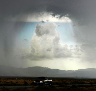 Monsoon storms clouds pass over the Mojave area causing flooding in the Palmdale and Lancaster areas. Mojave CA. Sept 10,2011.  Photo by Gene Blevins/LA DailyNews