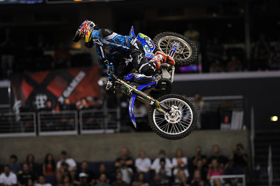 The Moto X Best Whip competition at the X Games 17 at the Staples Center in Los Angeles, CA Thursday, July 28, 2011. (Hans Gutknecht/Staff Photographer)