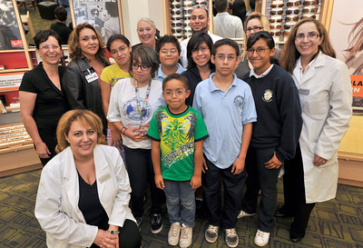 A program known as One Sight provided free eye examinations and glasses for children who were determined by the LAUSD to have a need. Lens Crafters provided the resources for 20 children from San Fernando Valley Schools that included Mulholland Middle School, Nobel Elementary and Bassett Street Elementary, to give them a gift of better vision.  Sherman Oaks, CA. 10-14-2010. (John McCoy/staff photographer)