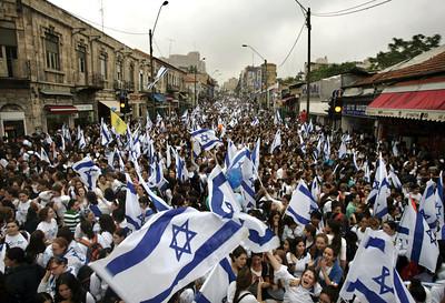 APTOPIX MIDEAST ISRAEL PALESTINIANS JERUSALEM DAY