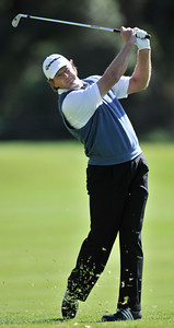 Retief Goosen on the 2nd fairway during the third round of the Northern Trust Open at Riviera Country Club in Pacific Palisades , CA. 2-19-2011. (John McCoy/staff photographer)